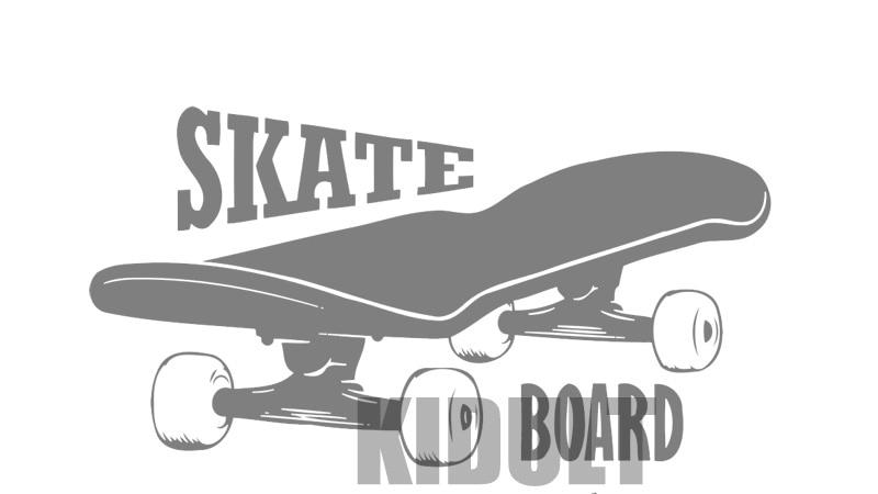 Creative muurstickers skateboard skateboarden tekst patroon behang