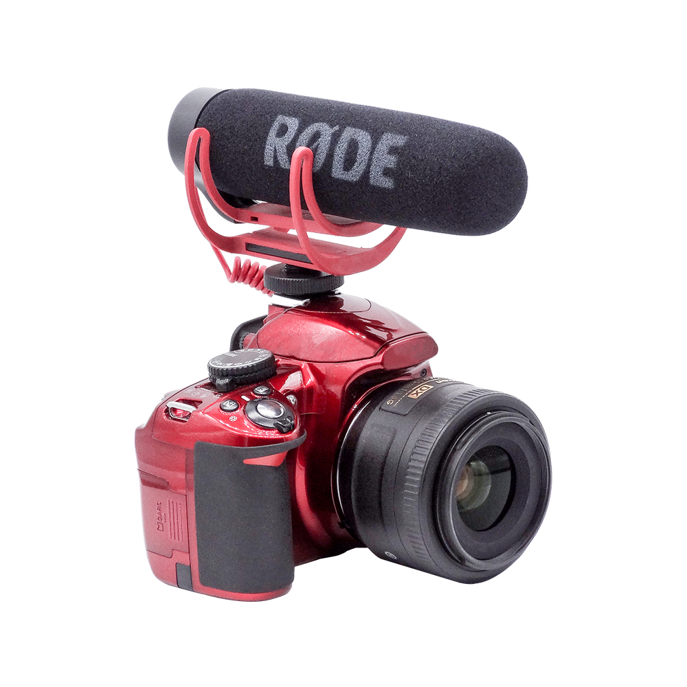 Video Camera Rode VideoMic Go Lightweight On-Camera Rycote Lyre Interview Microphone for Canon Nikon Sony DV DSLR 600D 70D D90