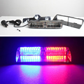 16LED Flash Light Viper S2 48W Red Blue Flash Strobe Emergency EMS Police Warning light Flashing Firemen Led lights