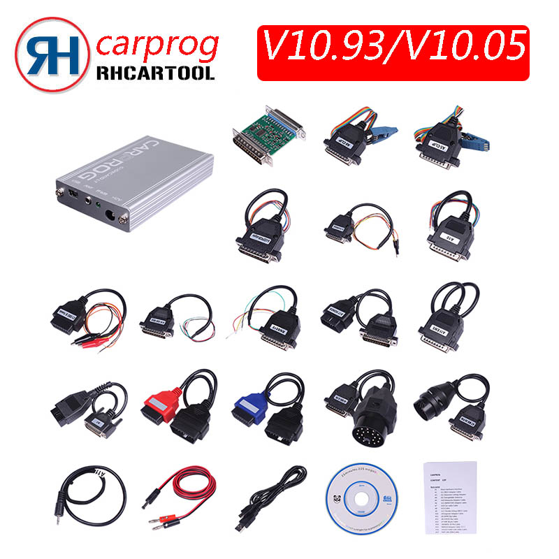 US $46 5 |Free Shipping Car prog v10 05 v10 93 Repair Tool CarProg Full  Adapter Airbag Reset Programmer for Radios Dashboards Immobilizers-in  Engine