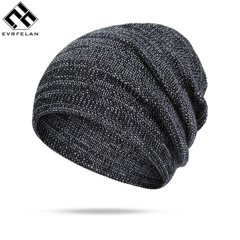 6861bac6dd3 Evrfelan New Design Winter Beanies Hats Women Men Solid Color Autumn Winter  Knitted Skullies Cap Unisex
