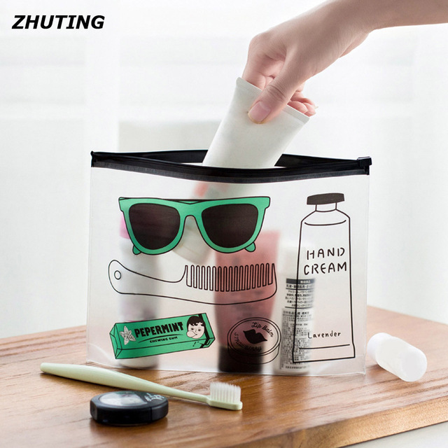 944e99b57771 Swimming beach items bag sunglasses transparent pull sharpening plastic  stationery bag file bag products jpg 640x640