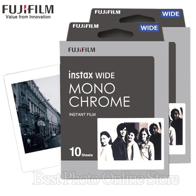 20 Sheets Fujifilm Fuji Instax Wide Film Black and white Monochrome For Fuji Instant Camera 300