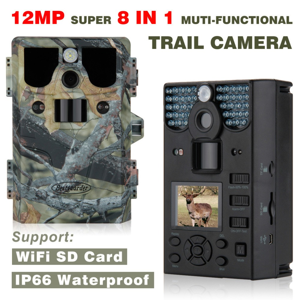 New WIFI SD Card 12mp 44pcs LED Infrared scouting camera Night Vision hunting camera traps wildlife Trail cameras detection 85ft hunting camera 940nm 12mp photo traps infrared night vision motion detection outdoor wildlife trail cameras trap no lcd screen