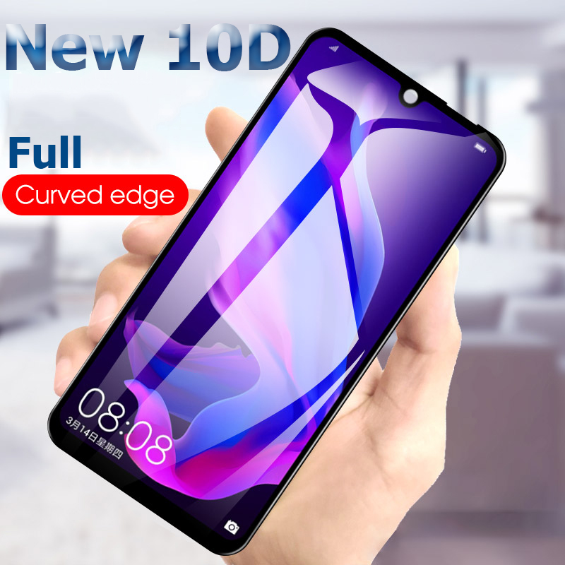 10D Full Curved <font><b>Phone</b></font> Screen Protector For Huawei <font><b>P30</b></font> Pro Tempered Glass For Huawei P 30 Lite P30Lite P30Pro Protective Film image
