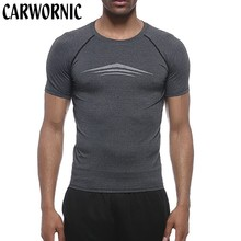 CARWORNIC Casual Fashion T-Shirt Men Long Sleeve Fitness Quick Dry Breathable T-Shirt Men's Jogger Gyms Workout T-Shirt Male stretchy quick dry long sleeve t shirt