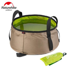 NatureHike 10L Portable Ultralight Nylon Outdoor Folding Water Washbasin Wash Bag Foot Bath Camping Equipment Travel Kits
