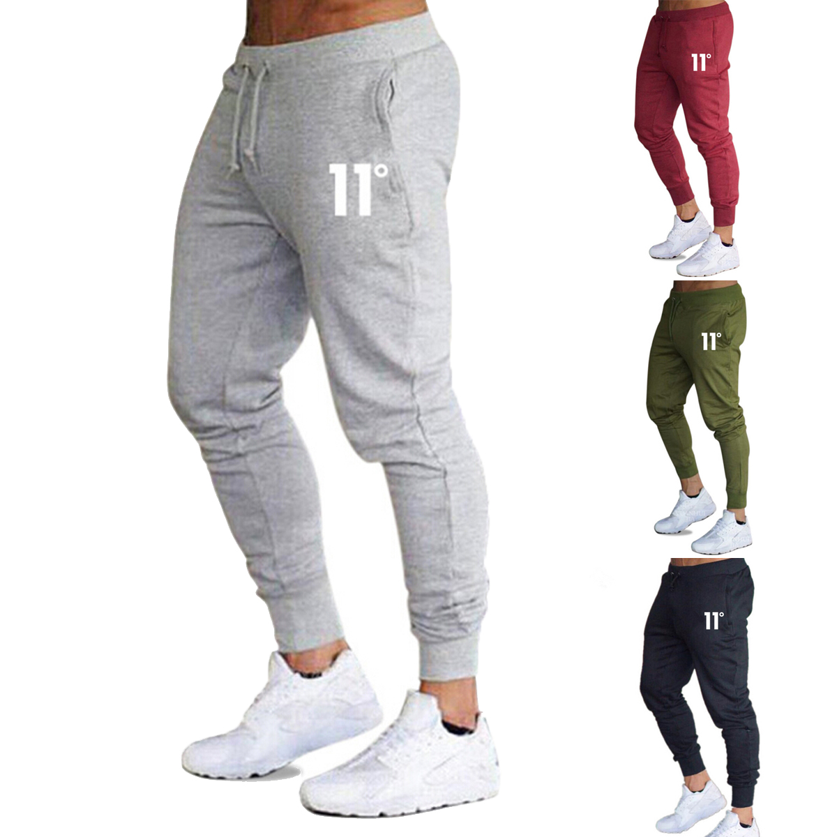 2019 Brand New Mens Casual Slim Fit Tracksuit Sports Gym Skinny Joggers Sweat Pants Trousers