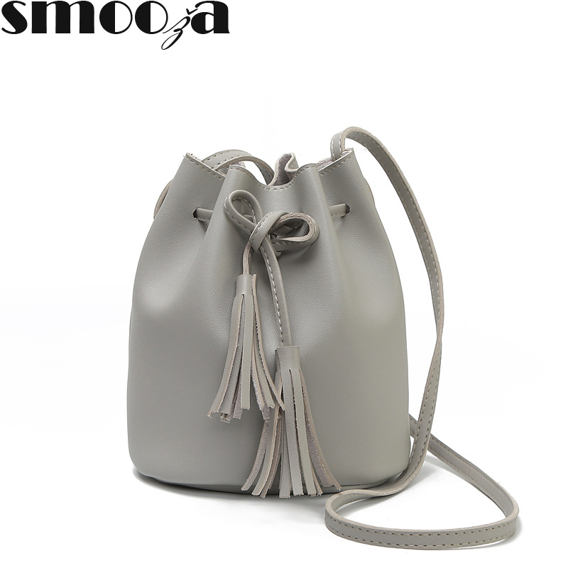 Shoulder Bags Have An Inquiring Mind Smooza Famous Brand Luxury Handbags Women Bag Leather Shoulder Crossbody Bucket Bags For Women 2018 Summer Tassel Women Bags Unequal In Performance Women's Bags