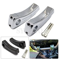 7/822MM Motorcycle Heightening Fixed seat Clamps Risers Handlebar Bar Risers Mount For Yamaha XV 125 250 400 Tmax 500 530 R1
