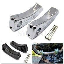 """Braçadeira fixa para guidão de motocicleta, 7/8 """"22mm, elevação, montagem para yamaha xv 125 250 400 tmax 500 530 r1"""
