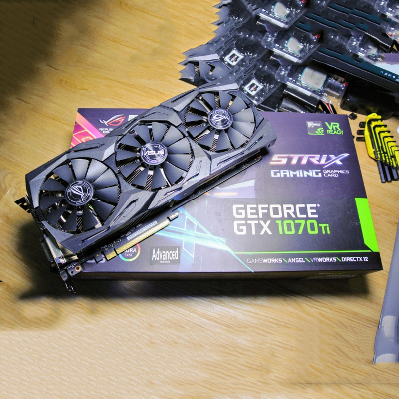 ASUS GTX1070TI 8G GAMING graphics card 3fan used 90%new image
