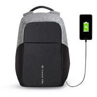 BUG Multifunction USB Charging Men 15inch Laptop Backpacks For Teenager Fashion Male Mochila Leisure Travel Backpack