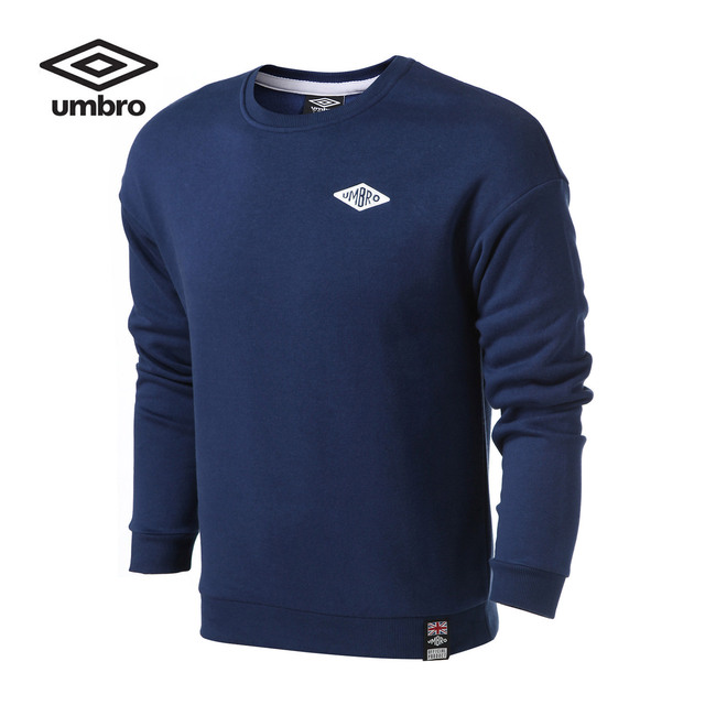 Umbro New Round Neck Knit Men Exercise Simple Jacket Totton Breathable Fleece Long Sleeve Tops Tees UCB63267
