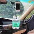 Двойной Зажим 360 Вращающийся Маунт Автомобиля Сотовый Телефон Владельца Стенд Лобовое Стекло кронштейн Для iphone 6 Plus Для Samsung S7 edge Для Lenove