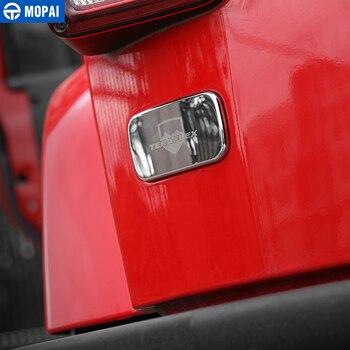 MOPAI חיצוני מכונית אחורי שמאל זנב אור מנורת כיסוי קישוט מדבקות לרכב עבור ג 'יפ רנגלר JK 2007 עד אביזרי רכב סטיילינג
