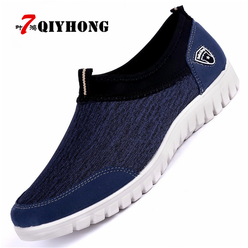 Men's Shoes 2018 New Spring And Autumn Mens Single Mesh Shoes Casual Shoes A Pedal Comfortable Soft Bottom Lazy Shoes Mens Shoes Men