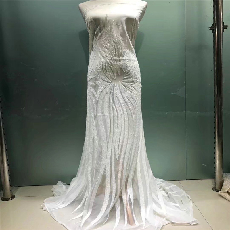 Graceful and elegant Embroidered sequins pattern guipure lace AFL127 Free Shipping and good price African Tulle lace fabric