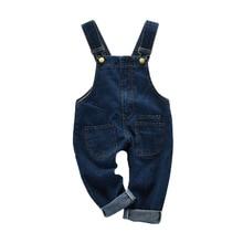 Новые летние детские комбинезоны для девочек, синий джинсовый костюм-комбинезон, штаны, модная детская одежда для маленьких девочек, 4ov025
