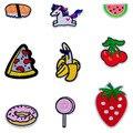 1 PCS Pony Patch Bordado Emblemas de Frutas Pirulito Frete Grátis Pano Patches para Vestuário Decoração Mochila Parches