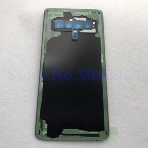 Image 5 - 100% oryginalny Samsung Galaxy S10 tylna pokrywa baterii 3D obudowa szklana pokrywa tylna sprawa S10 G973 S10 + drzwi tylna obudowa obiektyw aparatu