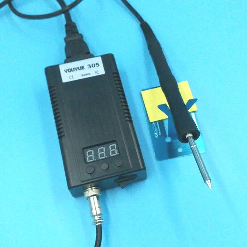 UE plug youyue305 mini Portable Numérique station de soudage Électrique fer à souder + T12 conseils Chauffage Core 100 ~ 240 V mieux que 936D