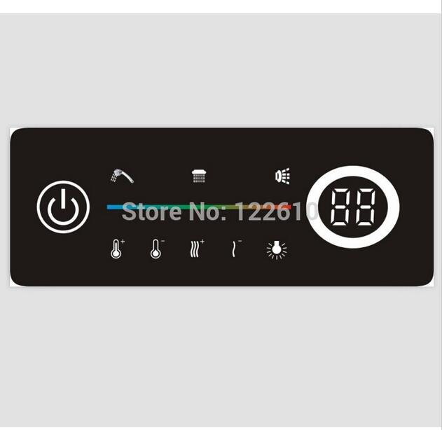 Digital shower controller thermostatic shower mixer touch shower faucet mixer digital display shower panel wall mounted two handle auto thermostatic control shower mixer thermostatic faucet shower taps chrome finish