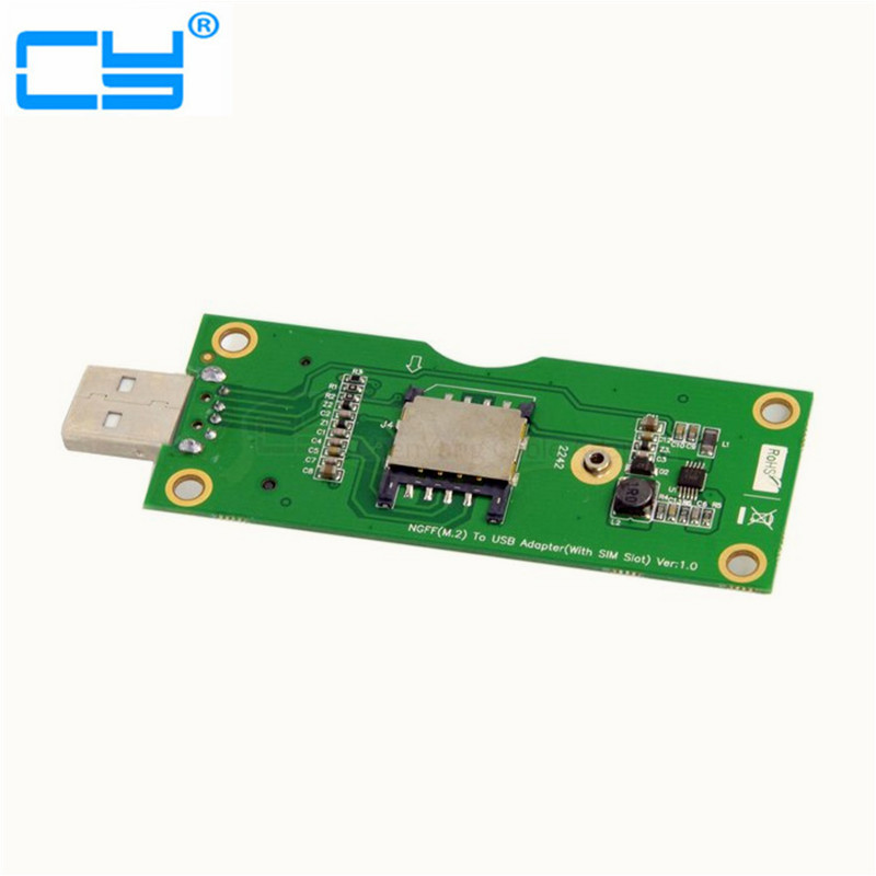 все цены на M.2 NGFF WWAN Wireless to USB Card Adapter with SIM Card Slot Module Testing Tools