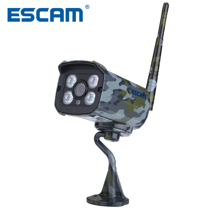 ESCAM QD900S 4pcs <font><b>LED</b></font> lights Night Vision 2MP CCTV Camera Motion Detection HD 1080P WiFi Wired Waterproof Security IP Camera