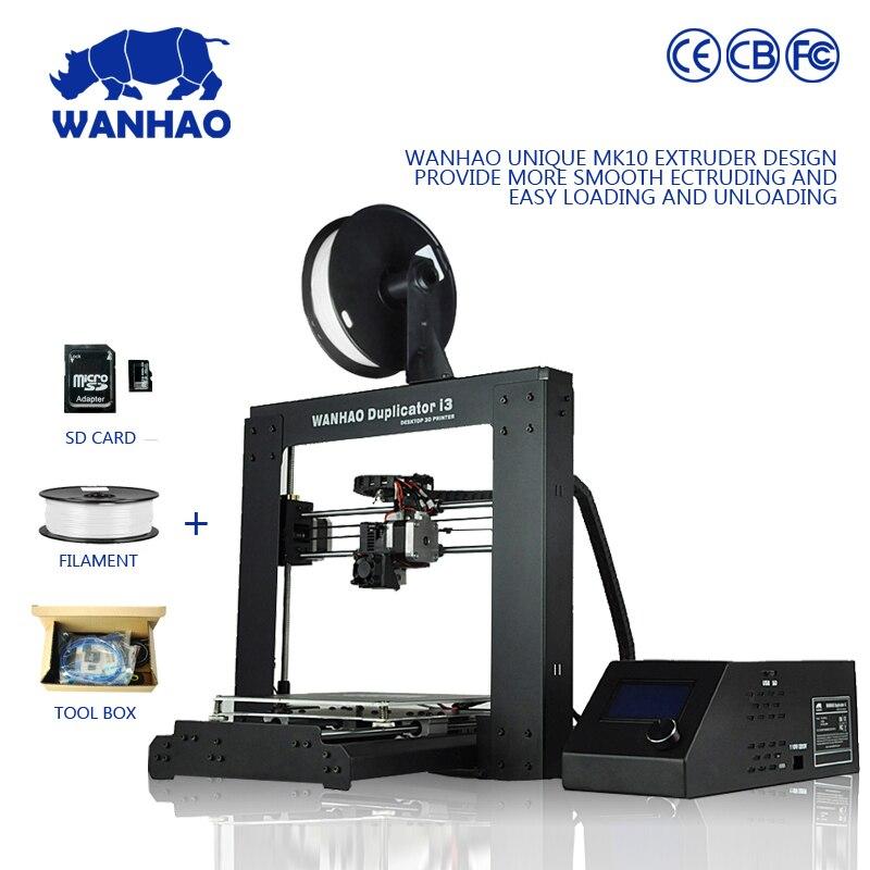 Impresora WANHAO 3d marca Modelo I3 V2.1 totalmente arylic montado con 2 GB tarj