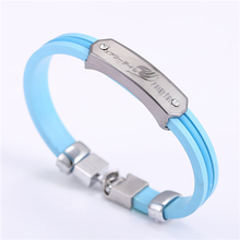 popular MOSU Fairy Tail Blue Bracelet Bangle High Quality Silicone non-fading environmental Jewelry