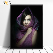 NOOG Modern Painting Girl Posters and Prints Wall Art Classical Canvas Nordic Picture Home Decoration for Living Room