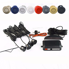 Viecar Car LED Parking Sensor Kit 4 Sensors 22mm Backlight Display Reverse Backup Radar Monitor System 12V 8 Colors