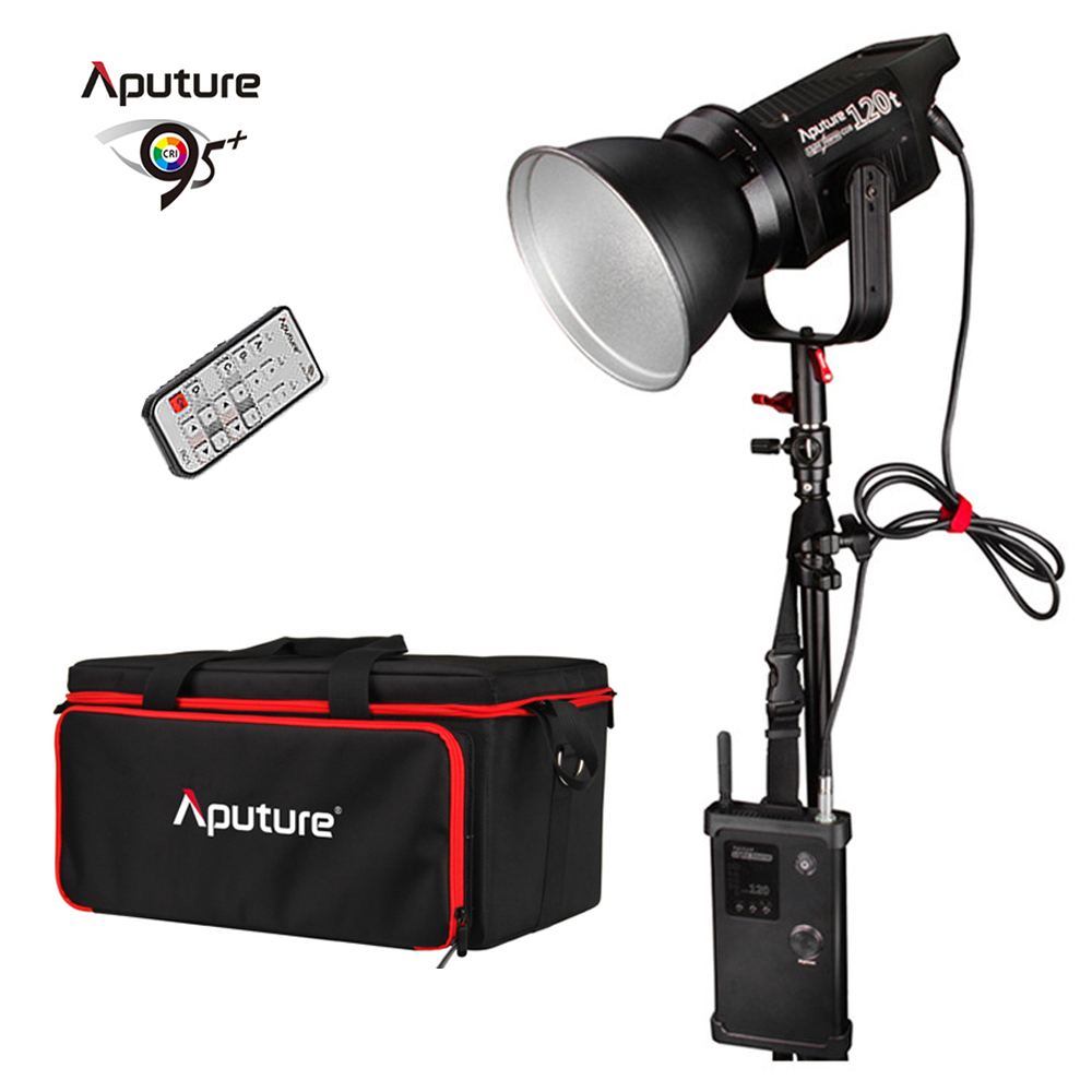 Aputure Light Storm COB 120t CRI97+ 3000K 135W Bowens Mount LED Continuous Video Light with 2.4G Wireless Remote V-Mount Plate aputure light dome mini soft box flash diffuser for light storm 120 and cob 300 series bowens mount led lights