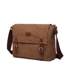 Men's Korean version of the tide canvas large capacity shoulder Messenger bag wear-resistant cross section square casual bag цена 2017