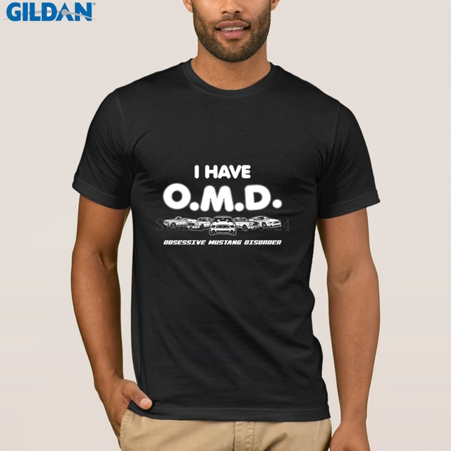 Pattern Mustang T Shirt I Have Omd Obsessive Mustang Disorder Tshirt