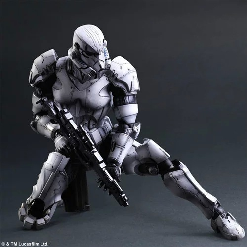 PlayArts KAI Star Wars Stormtrooper PVC Action Figure Collectible Model Toy 26cm KT1722 black jinhao ballpoint pen and pen bag school office stationery brand roller ball pens men women business gift send a refill 013