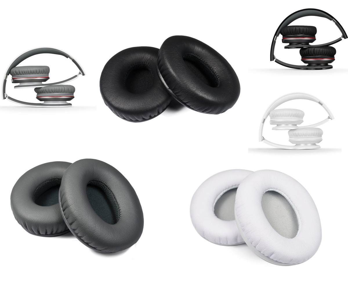High Quality Protein Leather Replacement Ear Pad Earpads Sponge Soft Foam Cushion For Beats SOLO 1.0 HD Headphones