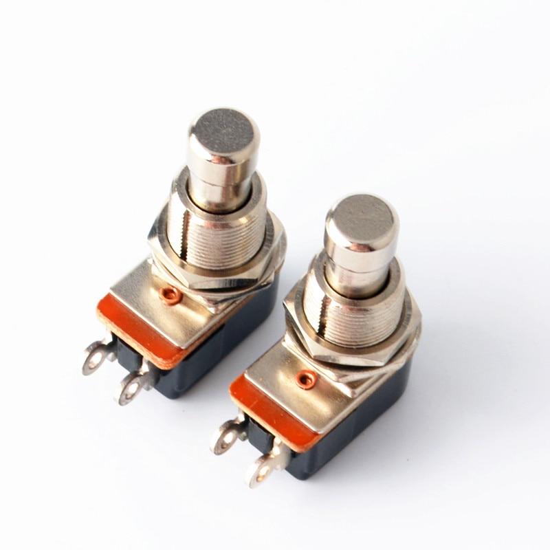 Spst momentâneo toque macio botão stomp pedal interruptor da guitarra elétrica interruptor desligado-momentâneo em