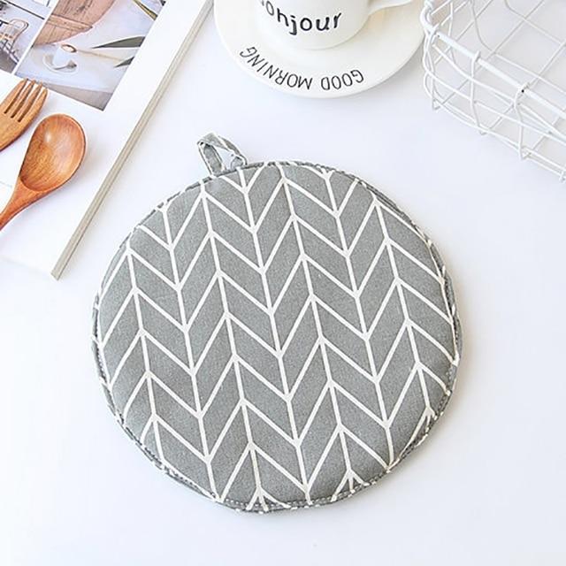Cotton Pot Mat Pad Heat Resisting Heatproof Table Cloth Insulation Pads Slip Resistant Kitchen Cooking