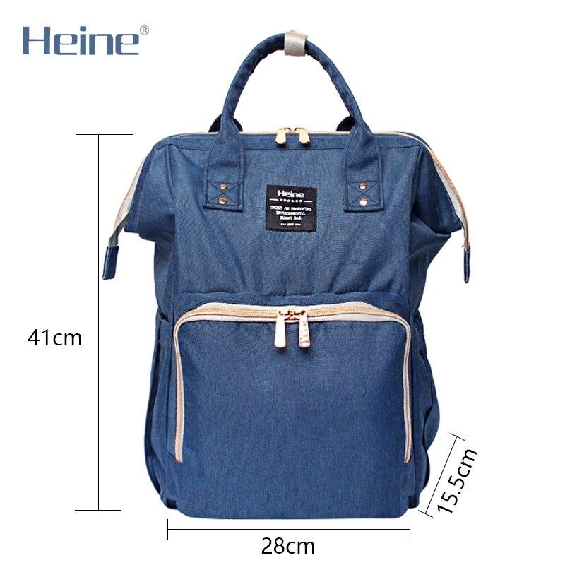 Heine Poliester duża torba na pieluchy dla niemowląt zmiana - Pieluchy i Trenowanie toalety - Zdjęcie 3