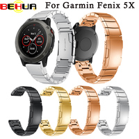Watch Strap Genuine Stainless Steel Bracelet Quick Release Replacement Fit Band Strap Wristband For Garmin Fenix