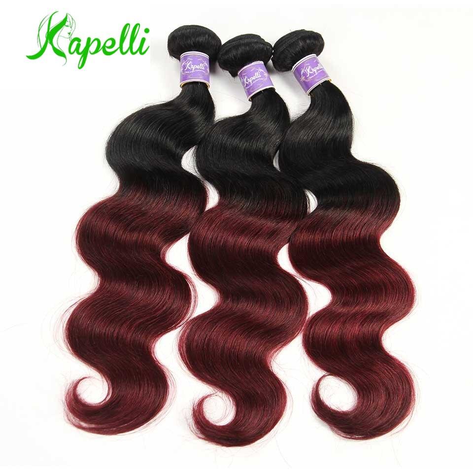 1B/Burgundy Bundles Human Hair Bundles 1B/Wine 99j Mongolian Body Wave Bundles Human Hair Weave Colored Bundles Remy Human Hair