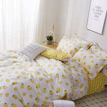 S Cartoon Bedding Set Nordic Single Double Bed Sheet Comforter Duvet Cover Bedspread Bedclothes Adult Queen King Linens(China)
