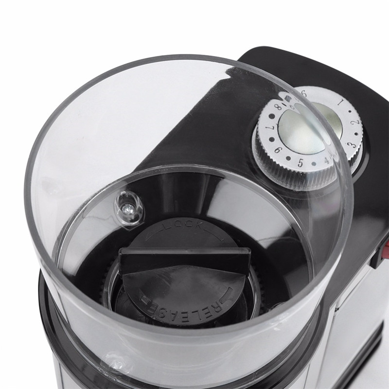 Automatic Electric Coffee Grinder Machine Coffee Burr Mill Storage Capacity Beans Mill Herbs Nuts Sonifer US/EU Plug