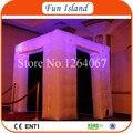 Envío Libre 2.4x2.4 m Colorido LED Fotomatón Inflable Hecha De Nylon Recubierto De PVC Mejor De Guangzhou Inflable fábrica