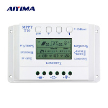AIYIMA 20A Solar Charge Regulator 10A 12V 24V Auto Solar Panel Controller for Solar Lighting System LCD Display and Dual Timer