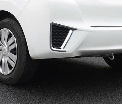 2 шт. ABS для Honda Fit 2014-2017 спереди и сзади рамки противотуманных фар стикер