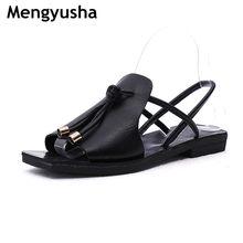 c19373803e8952 Sandals female flat 2018 summer new wave Korean version of the wild beach  student flat Roman