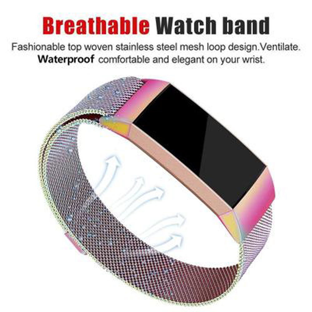 Milanese loop strap For Fitbit charge 4/3 watch band smart bracelet stainless steel belt charge4 wrist band 2